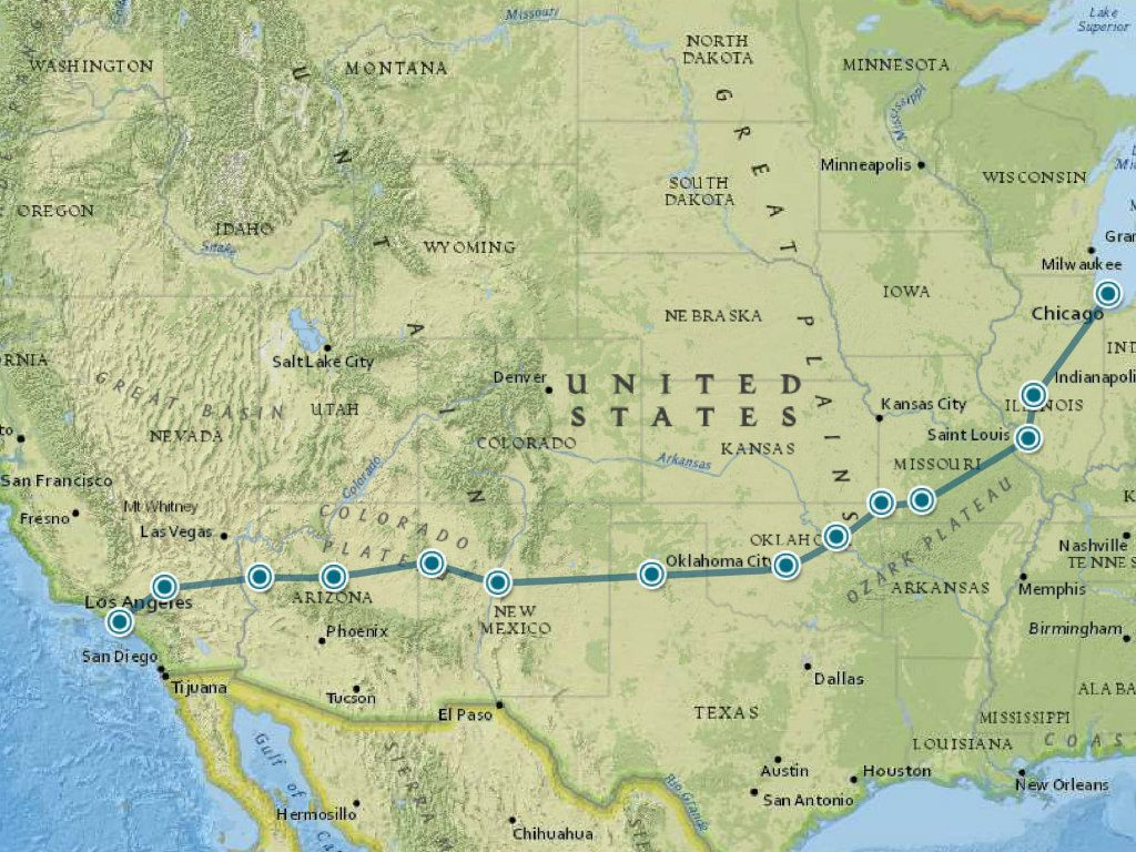 route roadtrip Amerika 3